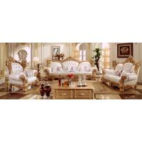 Buy cheap Classic European Set White Leather Wooden Sofa Design from wholesalers