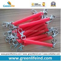 China Plastic Custom Color Size Red Spring Spiral Key Holder Lanyard on sale