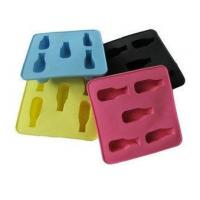 China Colorful Silicone Kitchenware Bakeware, 5pc Shape Ice Cubes Tray Non Toxic OEM wholesale