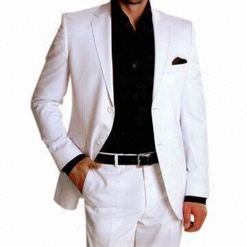 White Suit With Black Shirt - Best Shirt 2017