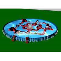 China Outdoor Portable Round Steel Frame Pool PVC Tarpaulin And Metal Frame wholesale