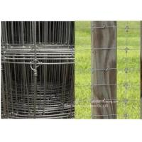 China Galvanized Grassland Cattle Wire Fence / Fixed Knot Woven Deer Fence For Pasture wholesale
