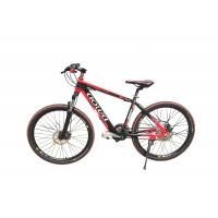 China 26'' Red Specialized Mountain Electric Bike / Electric MTB With Aluminum Alloy Frame wholesale