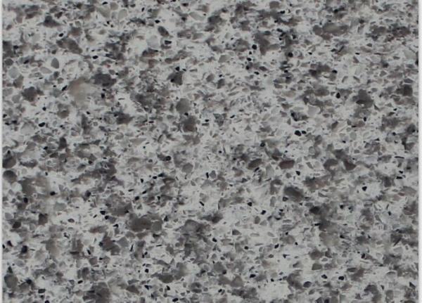 Quality Crystal Gray Sparkle Mirror Fleck Quartz Stone Slab Elegant Italy Design for sale