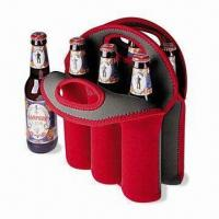 China Neoprene Can/Beer Bottle Cooler with Logo Printings, Measures 32 x 38 x 0.3cm wholesale