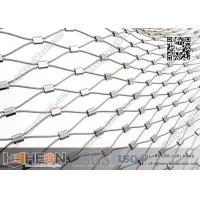 China SS316L Ferrule Stainless Steel Wire Rope Mesh   China Decorative Wire Mesh wholesale
