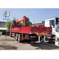 China 6000 / 8000kg Knuckle Truck Mounted Crane in White Red Boom Truck Crane SQ6ZK3Q wholesale