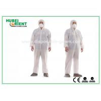 Hooded Nonwoven Disposable Coveralls with Various Colors CE Standard