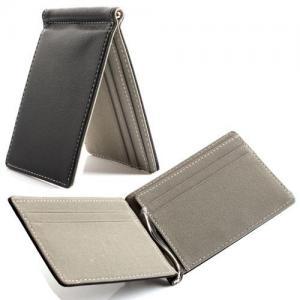 China Black Credit Card Holder Wallet 11 * 7.5 Cm Leather Credit Card Holder on sale