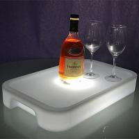 Quality Plastic Lighting Fruit Bar Tray LED Ice Bucket Wholesale with Square or Round for sale