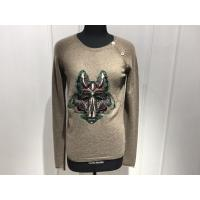 China Computer Cable Knitted Womens Cashmere Sweaters Embroidered Fox Head Logo wholesale