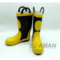 China Steel Toe Fireman Rubber Boots Fire Fighter