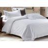 China 0.5cm / 1cm / 2cm Hotel Bed Linen Satin  Stripe With Duvet Cover 250 TC / 300TC wholesale