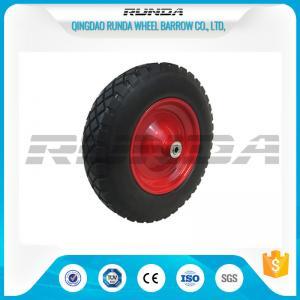 China Anti Slip Foam Filled Wheelbarrow Tires20mm Inner Hole Steel Rim Smooth Bearing wholesale
