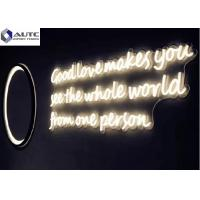 China Building Decoration Outdoor Neon Signs Customized Dimensions Warm White , Red wholesale