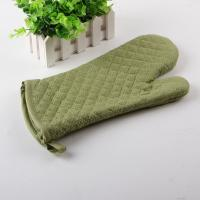 Diamond Quilting Heat Resistant Microwave Oven Mitts with Terry Cloth Inside