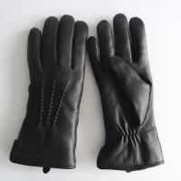 China high quality winter warm deer leather shearling gloves for women on sale