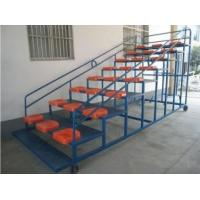 China Movable Aluminum Portable Indoor Bleachers Hard Welding With Armrest wholesale