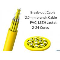 Buy cheap 24 Fiber Multimode Fan-Out Indoor Breakout Fiber Optic Cable With High Strength from wholesalers