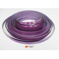 China Purple PVC / Acrylic Fitment / Furniture Edge Banding 2mm / 3mm With No Bubble on sale