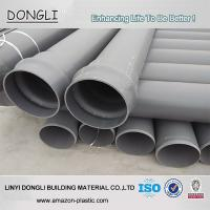 China Factory price grey PN10 160mm PVC water pipe price wholesale