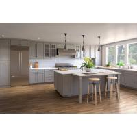 China New wooden kitchen cabinet designs modern Sets with sink and Quartz countertops wholesale