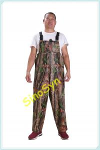 China FQY1906 Forest-Camouflage PVC Safty Chest/ Waist Protective Working Fishery Men Pants wholesale
