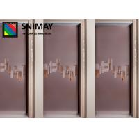 Standard Soft Leather Wooden Sliding Wardrobe Doors Easy Assembly