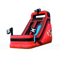 Attractive Fun Inflatable Pirate Slide , Amusement Park Outdoor Inflatable Slide