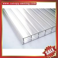 China four layers polycarbonate sheet,multiwall PC sheet,hollow pc panel,pc hollow board,excellent temperature resistance ! wholesale