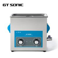 China Laboratory Industrial Ultrasonic Cleaner SUS304 6L 40kHz 150W With Drain Valve wholesale