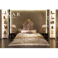 Buy cheap 2016 New Design Dubai Furniture Classic Gold Hand Carved King Bed FB-168 from wholesalers