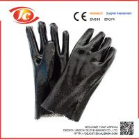 China PVC working safety gloves on sale