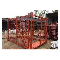 Customized Seal / Box Type Steel Ladder Cage Q235 Steel For Foundation Trench