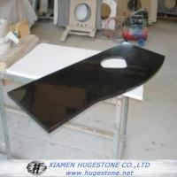 China Polished Black Sink Countertops, China black granite sink Countertops wholesale