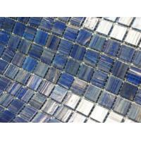 China Blue mixed swimming pool tile for sale on sale