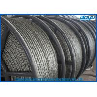 China Anti Twisted Steel Pilot Wire Rope Six Squares 12 Strands Transmission Line Stringing wholesale