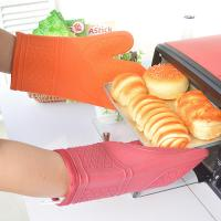 Fashion Pink / Orange Kitchen Oven Mitts Commercial Oven Gloves 18x31cm