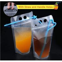 China Biodegradable Liquid Packaging Leakage Proof Pouch Custom Printed Stand Up Aluminium Foil Spout Bags Water Drinking Bag on sale