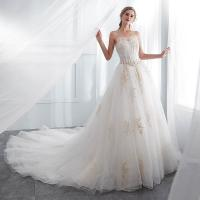 China White Color Floor Length Ladies Evening Dresses , Wedding Dresses For Womens wholesale
