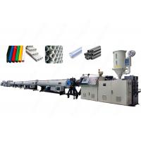 China High Capacity Control Extrusion Pvc Pipe Manufacturing Equipment With Twin Screw wholesale
