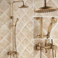 China Antique Brass 8 inch Shower Head + Hand Shower Tub Shower Faucet - TSA005 on sale