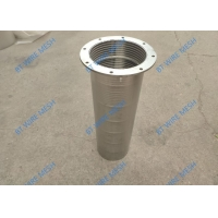 China Flange And Bottom Water Filter 0.02mm Slot Johnson Screen Pipe wholesale