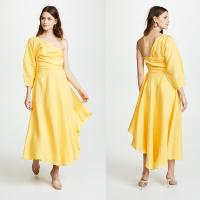 China Fashion Asymmetrical Clothing One Shoulder With Long Sleeve Woman  Maxi Dress Summer on sale
