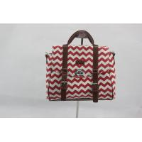 China Portable Red Custom Made Canvas Bags With Outside Button Inner Pocket wholesale
