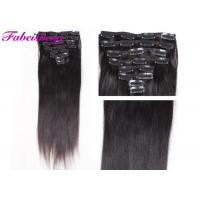 China Soft Straight One Piece Black Clip In Hair Extensions With Cuticle Intact wholesale