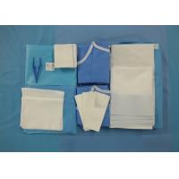 China Surgeon Caesarean Disposable Surgical Packs Non Woven C Section Drape Included wholesale
