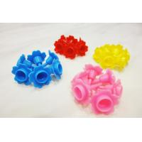 Buy cheap Colorful Flower Shaped Plastic Birthday Cake Candle Holders Eco Friendly from wholesalers