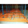 China Industrial Push Back Rack Galvanised Pallet Racking Single Pallet Per Level wholesale
