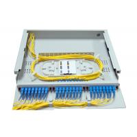 China 1.4U SC LC Rack Fiber Patch Panel 24 48 Port Top Transparent Cover For Easy Observation wholesale